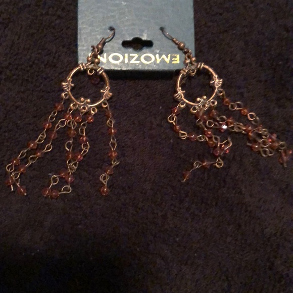 emozioni Jewelry - Bronze dangling earrings